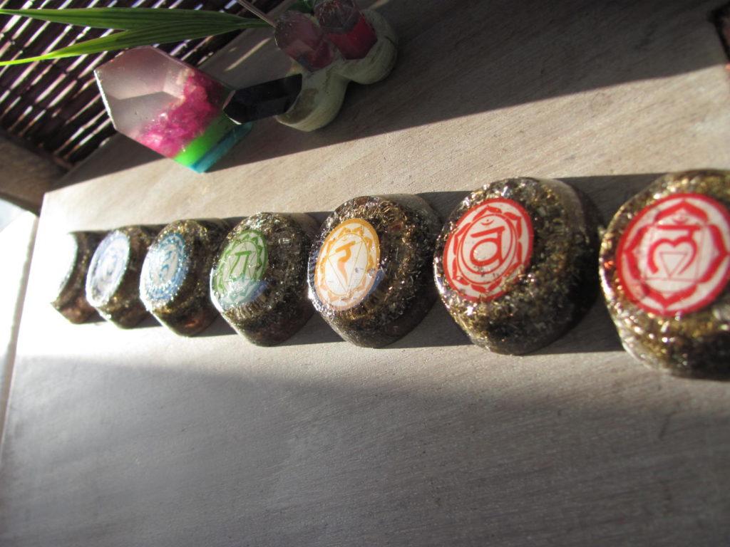 Set de Orgones 7 Chakras con Mandalas