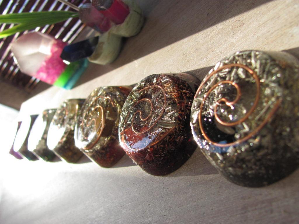 Set De Orgones 7 Chakras Con Mandalas Gemas