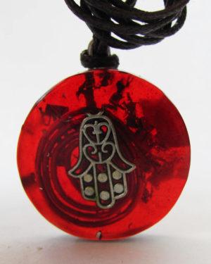 medalla de orgon hamsa proteccion